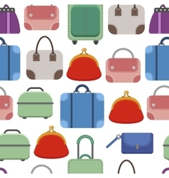 Hand bags seamless pattern on white background vector