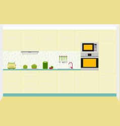 kitchen interior design vector image vector image