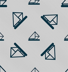 letter envelope mail icon sign Seamless pattern vector image