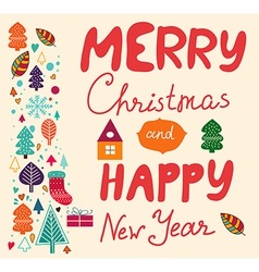 Merry Xmas Happy New Year vector image vector image