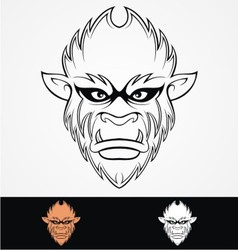 Monkey Head Tribal vector image vector image