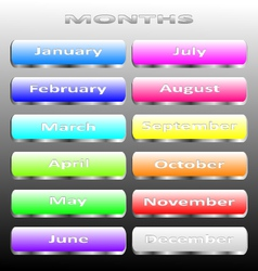 Months vector image