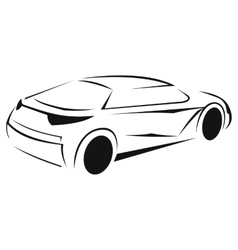 New car silhouette icon vector image