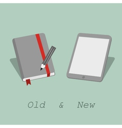 notebook phablet vector image vector image