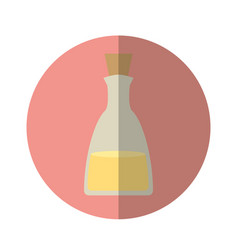 Oil bottle spa product vector