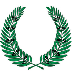 Olive wreath - symbol of victory and achievement vector