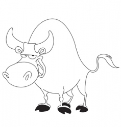outlined bull vector image vector image
