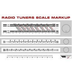 Radio tuner scale dashboard markup vector