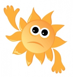 sad sun vector image