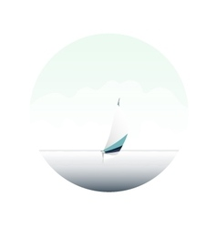 Sailing boat on the blue sea yacht and ocean vector