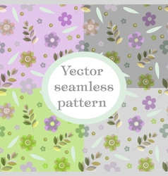 Seamless cute floral pattern background vector