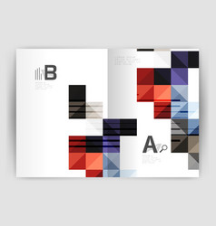 square annual report brochure a4 print template vector image