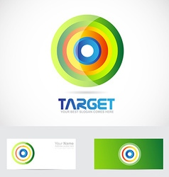 Target advertising logo vector image vector image