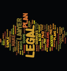 The access legal plan text background word cloud vector