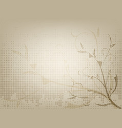 vintage ornamental old paper background vector image