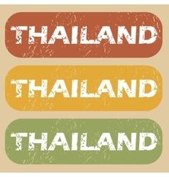 Vintage thailand stamp set vector