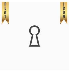 Keyhole flat icon vector