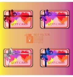 gift cards with multicolored balloons vector image
