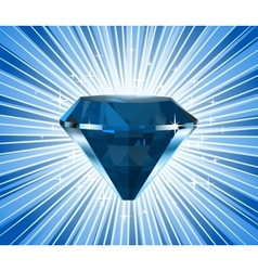 Diamond on a blue background vector image