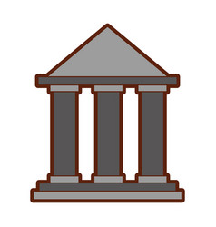 Building with columns icon vector