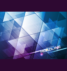 blue and purple tech modern abstract background vector image
