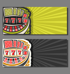 Banners for gambling games vector