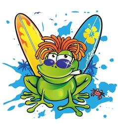 jamanican frog vector image