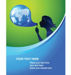 globe bubble template vector image