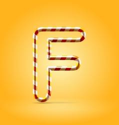 Candy summer hot orange outline font vector image