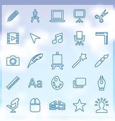 25 art design icons set vector