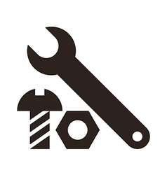 Wrench nut and bolt icon vector
