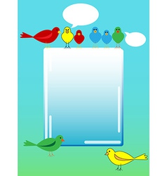 Bird advertisement vector