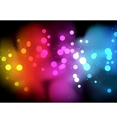 Rainbow Bokeh Background vector image
