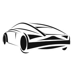 New car line icon vector
