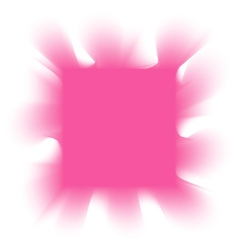 Smoke pink square on a white background vector