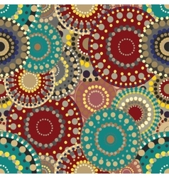 Seamless retro pattern with vivid colorful painted vector