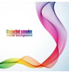 Abstract colorful smoke background vector image