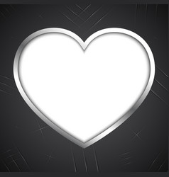 abstract love heart claw scratch metal plate vector image