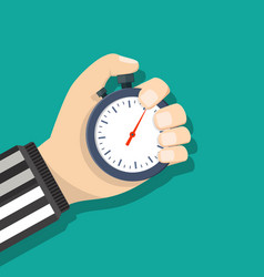 analog chronometer timer counter in hand vector image vector image