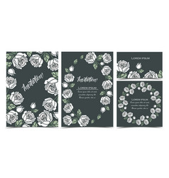 background with white roses vector image vector image