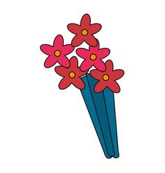 Beauty bunch flower decoration vector