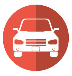 Car sedan vehicle transport icon shadow vector