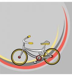 cartoon bicycle vector image vector image