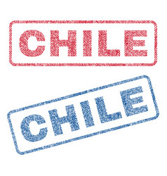 Chile textile stamps vector