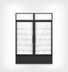 Commercial refrigerator with two door vector