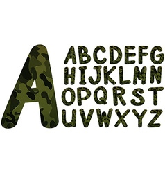 English font design with military theme vector image vector image