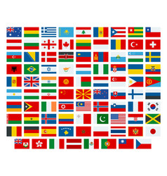 flags of the world flags of the vector image vector image