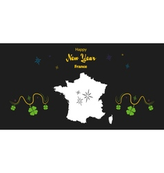 France hapy new year map vector