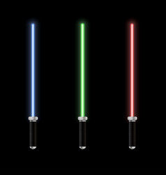 glowing lightsaber vector image