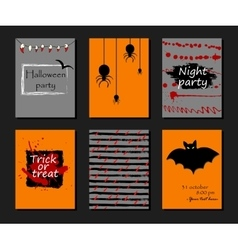 Halloween party invitation greeting card flyer vector image vector image
